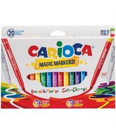 """Фломастеры меняющие цвет/стираемые Carioca """"Magic Markers"""", 18цв+2, 20 шт., картон, европодвес"""
