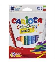"""Фломастеры меняющие цвет Carioca """"Color Change"""", 9цв+1, 10 шт., картон, европодвес"""