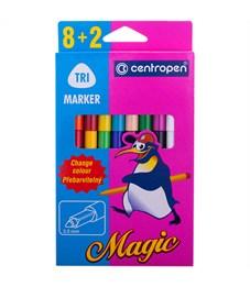 """Фломастеры меняющие цвет Centropen """"Magic"""", 8цв+2, 10шт., картон, европодвес"""