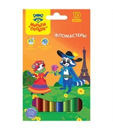"""Фломастеры Мульти-Пульти """"Енот во Франции"""", 10цв., смываемые, картон, европодвес"""