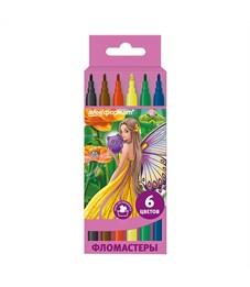 Фломастеры SchoolФОРМАТ Цветочные феи, 6 цветов, картонная упаковка