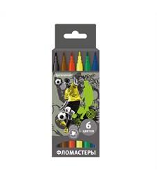 Фломастеры SchoolФОРМАТ Футбол, 6 цветов, картонная упаковка