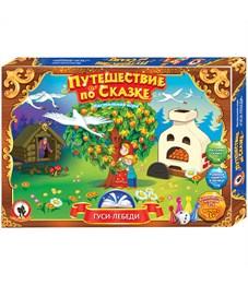 """Игра настольная Русский стиль """"Ходилка. Путешествие по сказке. Гуси-лебеди"""", картонная коробка"""