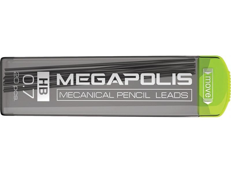 Грифели ErichKrause MEGAPOLIS Concept для механических карандашей 0.7мм