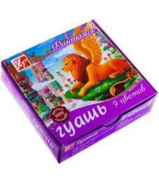 """Гуашь Луч """"Фантазия"""", 09 цветов, 15мл, картон"""