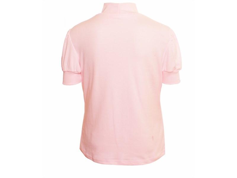 Школьная кофточка Снег розовая 1055-ДРФ-09 с коротким рукавом