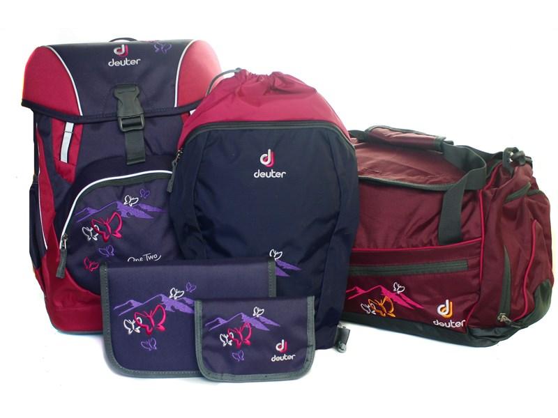 0d8dda725bd4 Школьный рюкзак Deuter OneTwo Фиолетовая бабочка с наполнением 5 предметов  ...