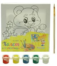 Холст для рисования Tukzar Медвежонок