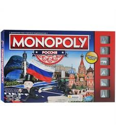 """Игра настольная Hasbro """"Монополия Россия"""", картонная коробка"""