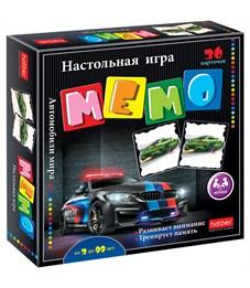 """Игра настольная Hatber """"Автомобили мира"""" мемо, 36 карточек"""
