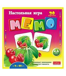 """Игра настольная Hatber """"Фруктовый коктейль"""" мемо, 36 карточек"""