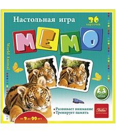 """Игра настольная Hatber """"В мире животных"""", мемо, 36 карточек"""