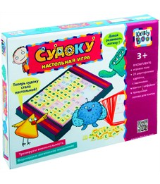 """Игра настольная Kribly Boo """"Судоку"""", игровое поле с плитками, картонная коробка"""