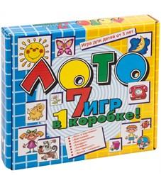 """Игра настольная Лото, Десятое королевство """"7 игр в 1 коробке"""" (большое), картонная коробка"""
