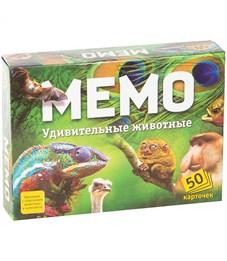 """Игра настольная Нескучные игры """"Мемо. Удивительные животные"""", 50 карточек, картон.коробка"""