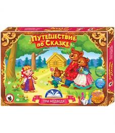 """Игра настольная Русский стиль """"Ходилка. Путешествие по сказке. Три медведя"""", картонная коробка"""
