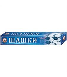 Игра настольная Шашки, Русский стиль, пластиковые, картонная коробка