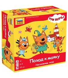 """Игра настольная Звезда """"Три кота. Поход к маяку"""", картонная коробка"""