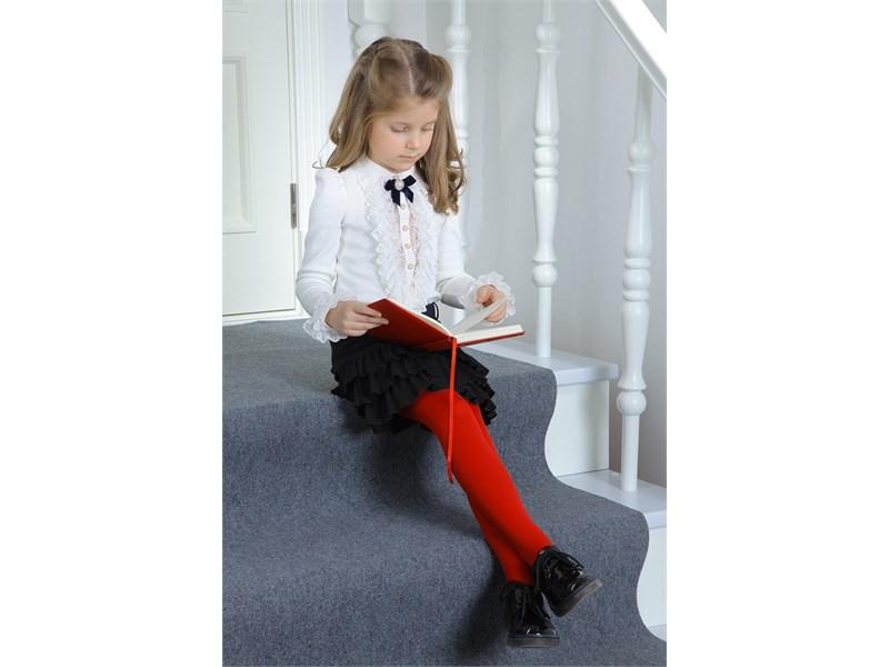 Юбка школьная Маленькая леди черная с плиссированными воланами