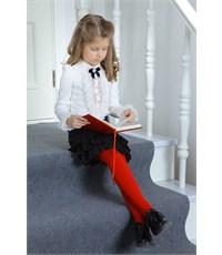 Фото 3. Юбка школьная Маленькая леди черная с плиссированными воланами