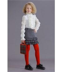 Фото 4. Юбка школьная Маленькая леди серая с плиссированными воланами
