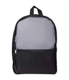 """Рюкзак ArtSpace """"Simple Plus"""" 37,5*29*12см, 1 отделение, 1 карман, уплотненная спинка, серый"""