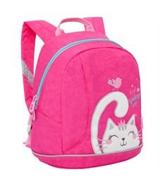 Рюкзак детский Grizzly, 25*30*14см, 1 отделение, 1 карман, укрепленная спинка, ярко-розовый