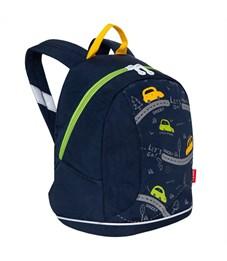 Рюкзак детский Grizzly, 25*30*14см, 1 отделение, 1 карман, укрепленная спинка, темно-синий