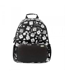 Рюкзак школьный пиксельный Upixel Floating Puff WY-A025 Черный с рисунком