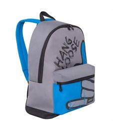 Рюкзак Grizzly, 30*44*15см, 1 отделение, 1 карман, укрепленная спинка, серый-голубой-черный