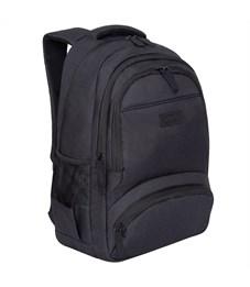 Рюкзак Grizzly, 31*48*24см, 2 отделения, 4 кармана, укрепленная спинка, черный
