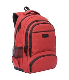 Рюкзак Grizzly, 31*48*24см, 2 отделения, 4 кармана, укрепленная спинка, красный