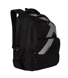 Рюкзак Grizzly, 32*45*23см, 2 отделения, 3 кармана, анатомическая спинка, черный-серый