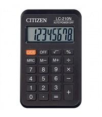 Калькулятор CITIZEN LC210, 8 р, черный, карманный