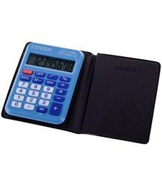 Калькулятор карманный Citizen LC-110NBL, 8 разр., питание от батарейки, 58*87*12мм, голубой