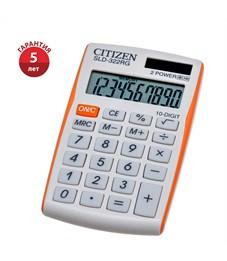 Калькулятор карманный Citizen SLD-322RG, 10 разр., двойное питание, 64*105*9мм, оранжевый