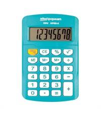 Калькулятор schoolФОРМАТ KPED-8, 8 р, голубой, карманный