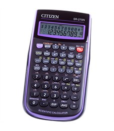 Калькулятор научный Citizen SR-270NPU 10+2 разр., 236 функц., пит. от батарейки, 78*153*12мм,фиолет.