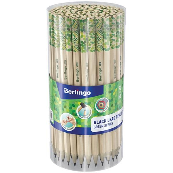 "Карандаш ч/г Berlingo ""Green Series"" HB, шестигран., заточен., пластик., ассорти"
