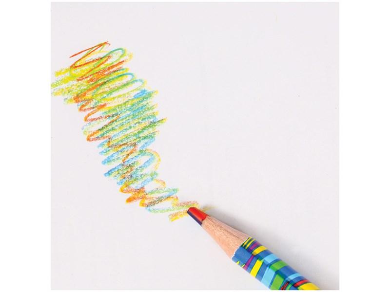 """Карандаш с многоцветным грифелем Мульти-Пульти """"Енот и радуга"""", кругл., заточен., ассорти"""