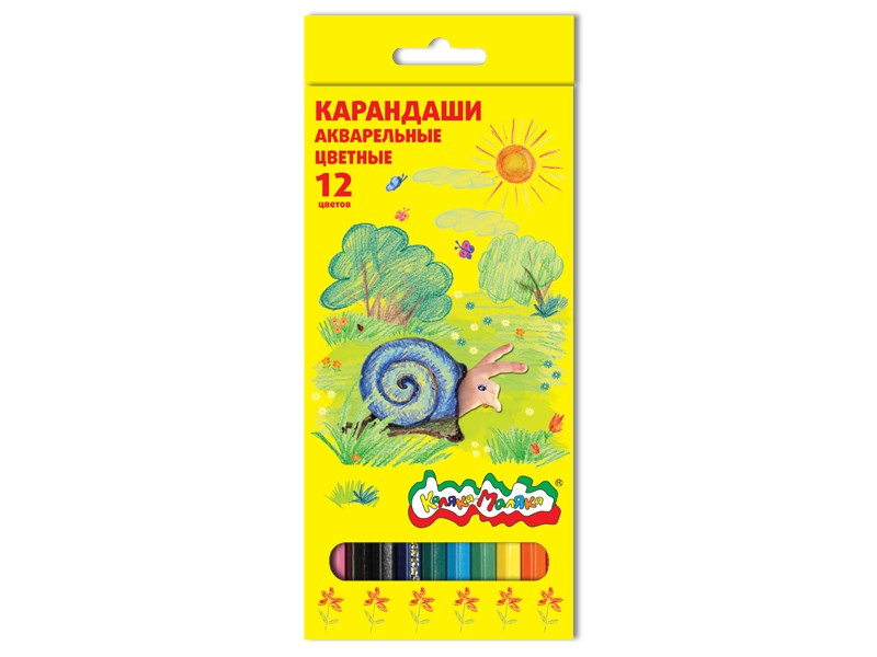 Карандаши акварельные Каляка-Маляка 12 цветов 3+