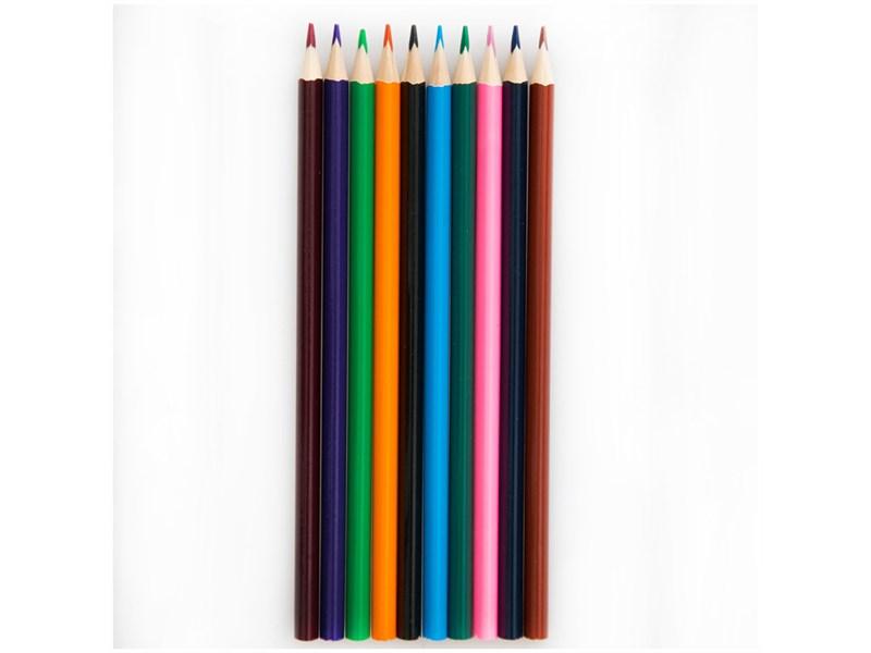 """Карандаши цветные ArtSpace """"Животный мир"""" 12цв., трехгран., заточен., картон. уп., европодвес"""