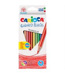 Карандаши цветные Carioca 12цв., трехгран., заточен., картон, европодвес