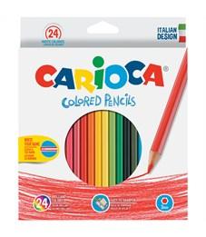 Карандаши цветные Carioca 24цв., заточен., картон, европодвес