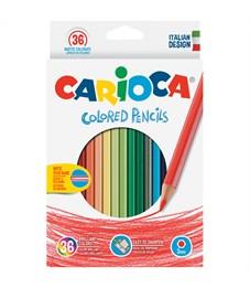 Карандаши цветные Carioca 36цв., заточен., картон, европодвес