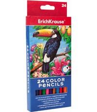 Карандаши цветные ArtBerry Erich Krause треугольные, 24 цв