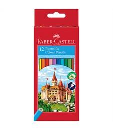 Карандаши цветные Faber-Castell, 12цв., заточен., картон, европодвес