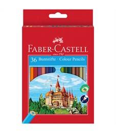 Карандаши цветные Faber-Castell, 36цв., заточен., картон, европодвес