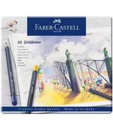 "Карандаши цветные Faber-Castell ""Goldfaber"" 48цв., круглые, заточен., метал. коробка"