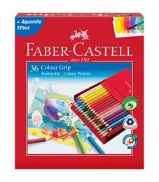 """Карандаши цветные Faber-Castell """"Grip"""" 36цв., заточен., студийная коробка"""
